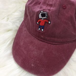 e7a5214fce3a1 Rue21 Accessories - RUE 21 Dad Hat With Robot Man Maroon
